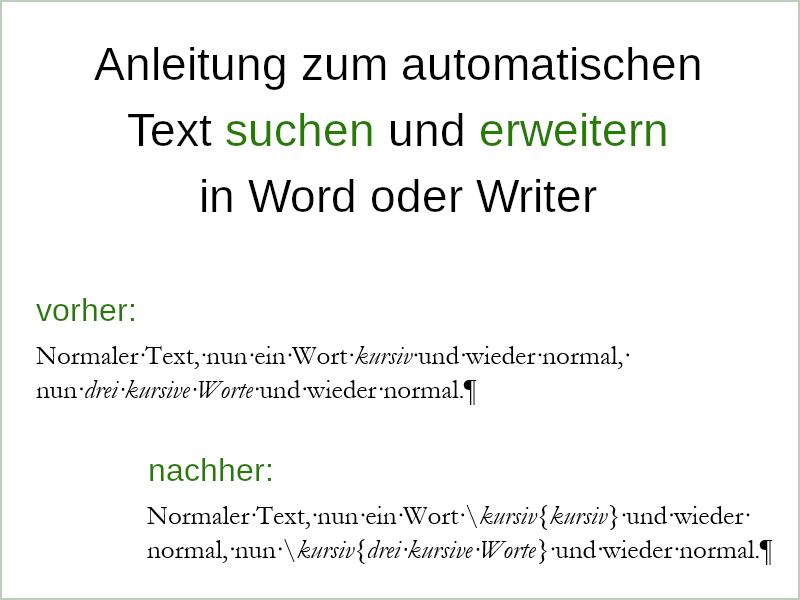Text suchen und erweitern 1