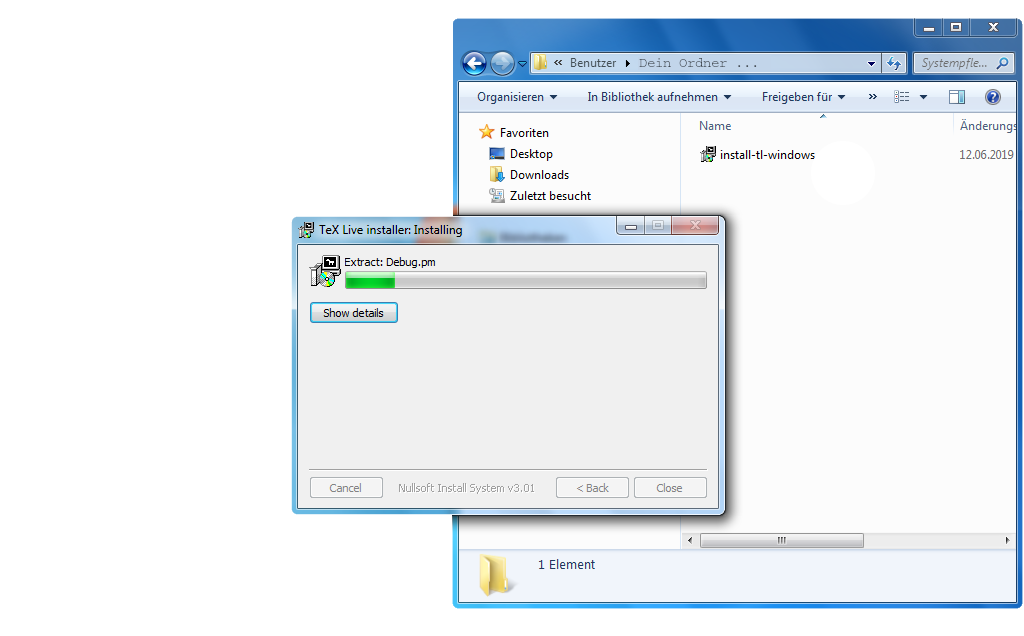 TeX Live: Installieren mit Windows 5